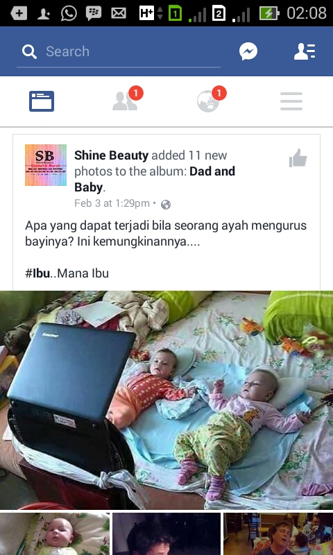 Mengharukan = ayah & anak !!