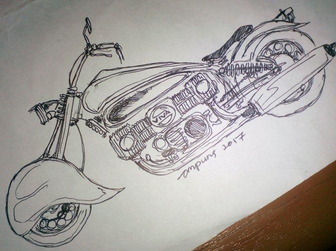 sketch : mesin boxer inline !